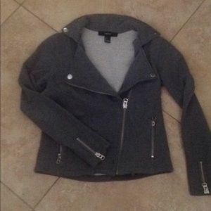 Forever 21 grey zipper jacket size small